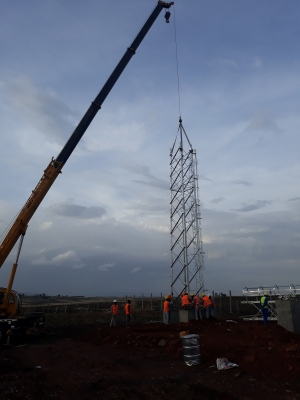 Gantry erection 400KV/230KV/66KV Substation
