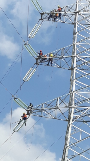 230KV conductor stringing