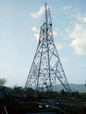 400KV tower erection